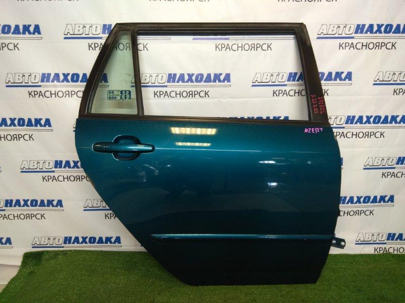 Дверь Toyota Corolla Fielder NZE121G 1NZ-FE 2000 задняя правая задняя правая, в сборе, синяя (769),
