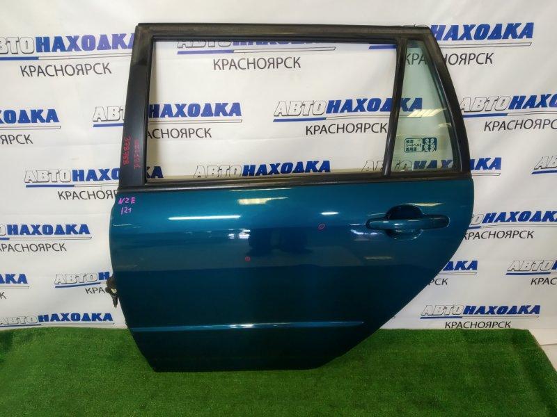 Дверь Toyota Corolla Fielder NZE121G 1NZ-FE 2000 задняя левая задняя левая, в сборе, синяя (769), мелкие