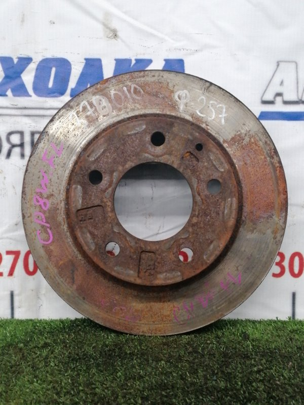 Диск тормозной Mazda Premacy CP8W FP-DE 1999 передний Передний, вентилируемый, диаметр 257 мм, есть