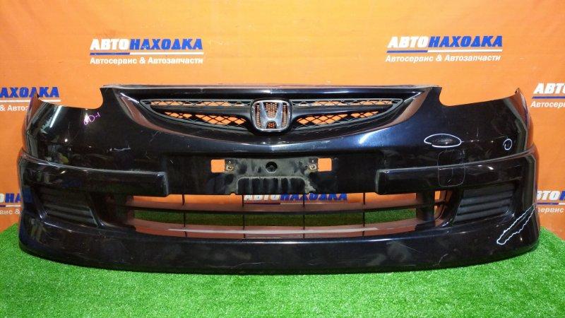 Бампер Honda Fit GD1 L13A 2001 передний B92P/обвес/есть потертости/ заглушки