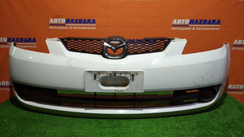Бампер Mazda Demio DY3W ZJ-VE 2005 передний A4D/2мод/решетка/ заглушки/ есть следы ремонта