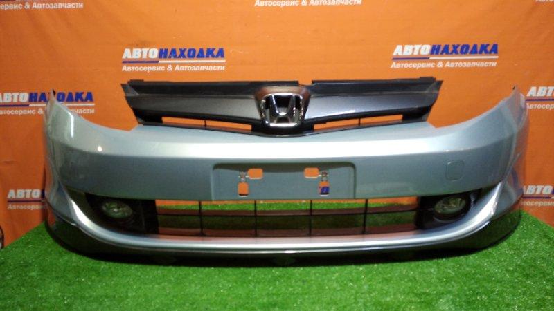 Бампер Honda Airwave GJ1 L15A 2005 передний G524MX/ туманки / решетка/ на губе есть потертости