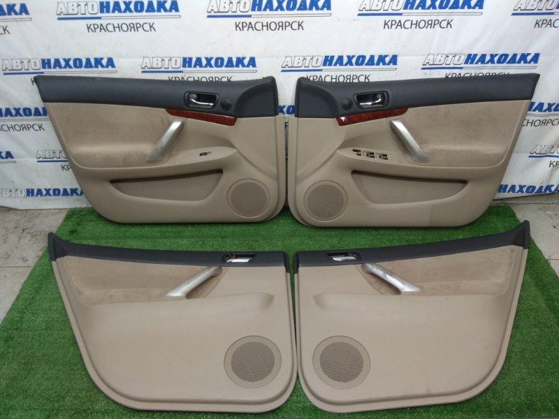 Обшивка двери Toyota Premio ZZT240 1ZZ-FE 2001 ХТС, комплект 4 шт. с внутренними ручками, вставки