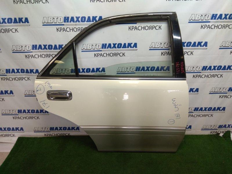 Дверь Toyota Crown GS171 1G-FE 1999 задняя правая задняя правая, в сборе, седан, белый перламутр,