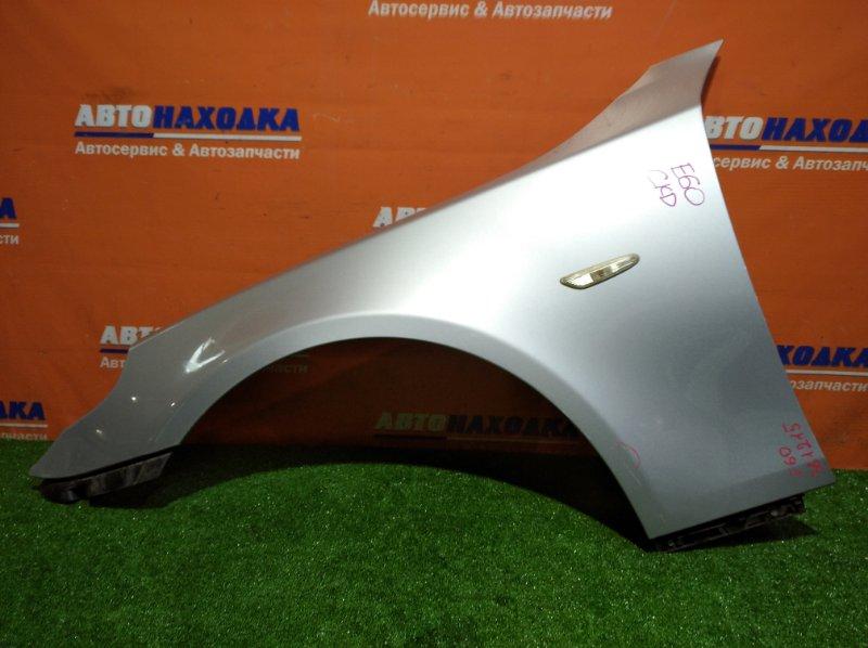 Крыло Bmw 525I E60 M54B25 2003 переднее левое повторитель / клипса / небольшой дефект ЛКП