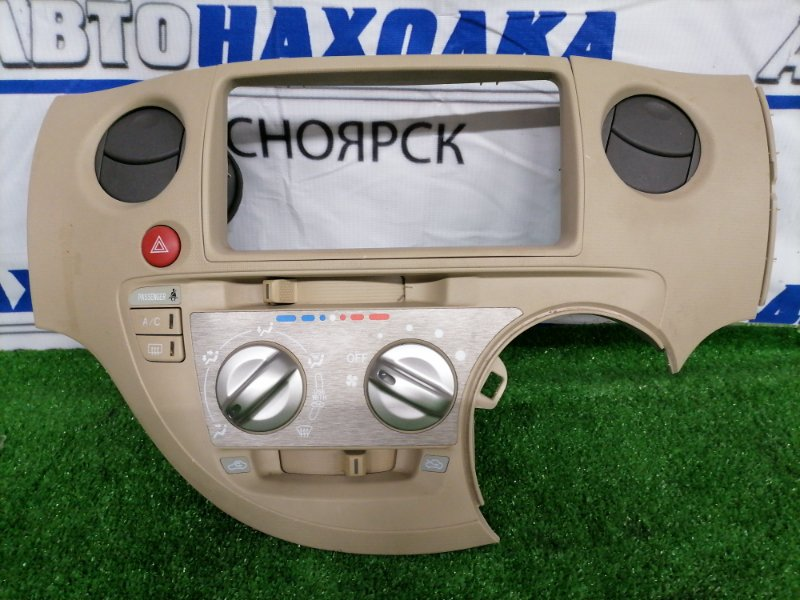 Климат-контроль Toyota Sienta NCP81G 1NZ-FE 2003 В сборе с центральной рамкой, дефлекторами,
