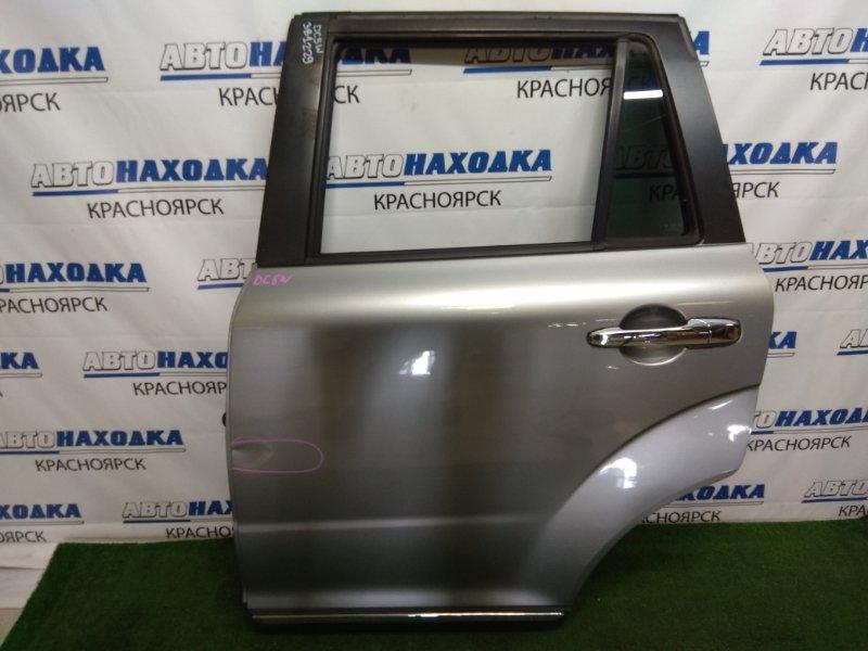 Дверь Mazda Verisa DC5W ZY-VE 2006 задняя левая задняя левая, в сборе, серая (38P), вмятинка,
