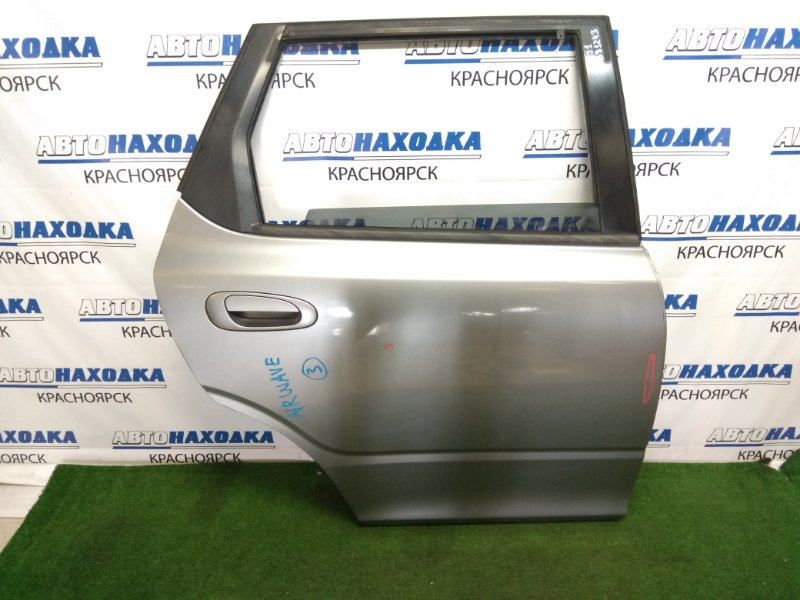 Дверь Honda Airwave GJ1 L15A 2005 задняя правая задняя правая, в сборе, серая, вмятинки, царапинки,