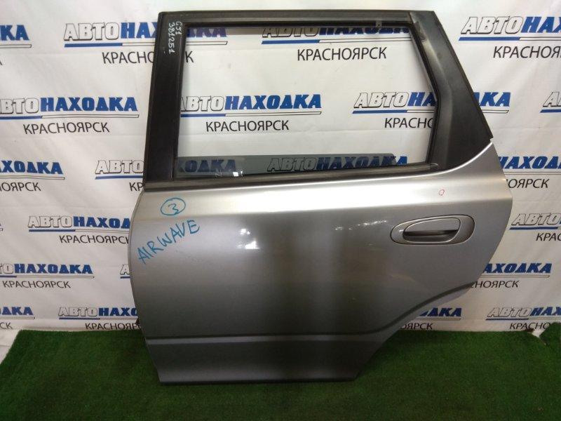 Дверь Honda Airwave GJ1 L15A 2005 задняя левая задняя левая, в сборе, серая, вмятинка, потертости,