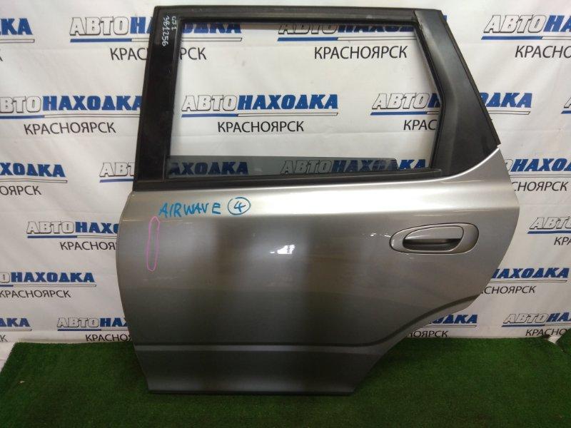 Дверь Honda Airwave GJ1 L15A 2005 задняя левая задняя левая, в сборе, серая, вмятинка, царапинки