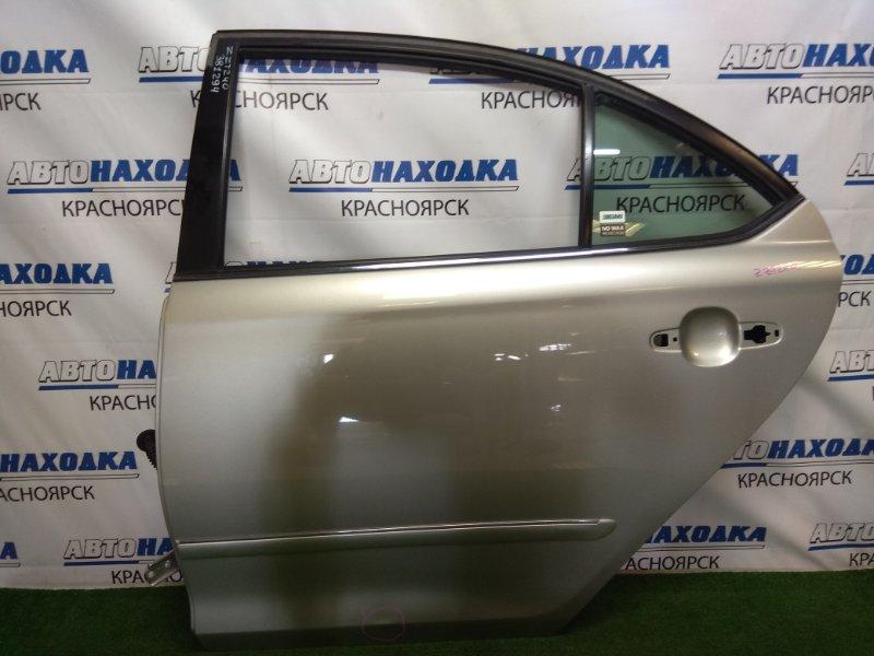 Дверь Toyota Premio ZZT240 1ZZ-FE 2001 задняя левая задняя левая, серебристая (1C0), без обшивки и