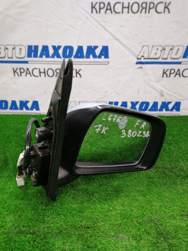 Зеркало Daihatsu Mira Cocoa L675S KF-VE 2009 переднее правое Переднее правое, с поворотником, 7
