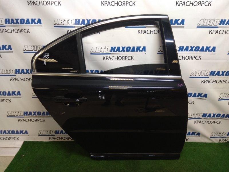 Дверь Volvo S80 AS98 B6324S 2006 задняя правая ХТС, задняя правая, в сборе, черная(452), хром ОК, под
