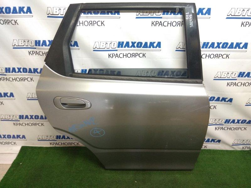 Дверь Honda Airwave GJ1 L15A 2005 задняя правая задняя правая, в сборе, серая, царапинки