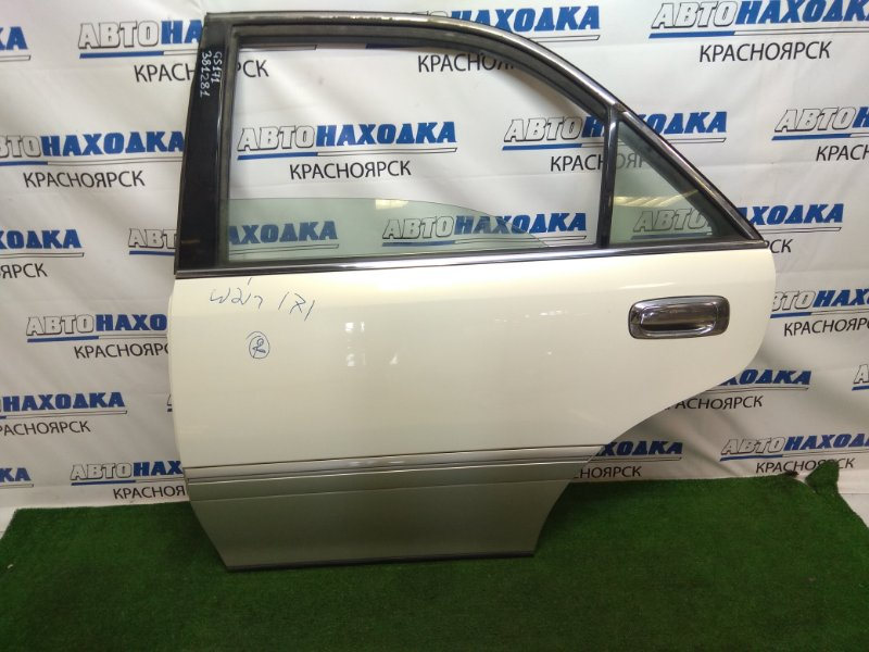 Дверь Toyota Crown GS171 1G-FE 1999 задняя левая задняя левая, в сборе, седан, белый перламутр, ЛКП