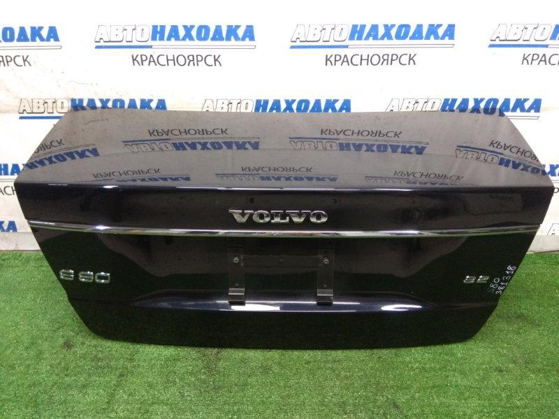 Крышка багажника Volvo S80 AS98 B6324S 2006 задняя ХТС, задняя, в сборе, черная(452), хром ОК