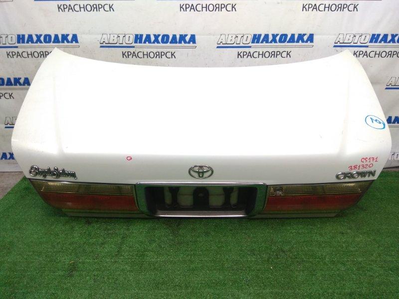 Крышка багажника Toyota Crown GS171 1G-FE 1999 задняя задняя, в сборе, белый перламутр, с