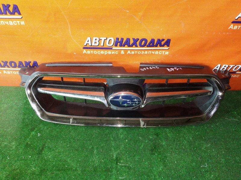 Решетка радиатора Subaru Legacy BP5 EJ20X 07.2005 ХРОМ ОБЛЕЗ