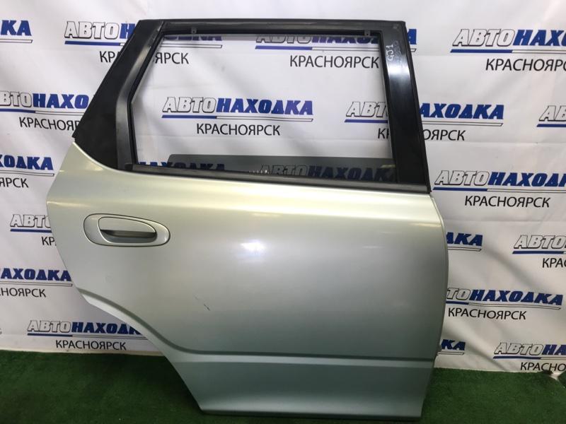 Дверь Honda Airwave GJ1 L15A 2005 задняя правая задняя правая, в сборе, светло-зеленая, царапинки,