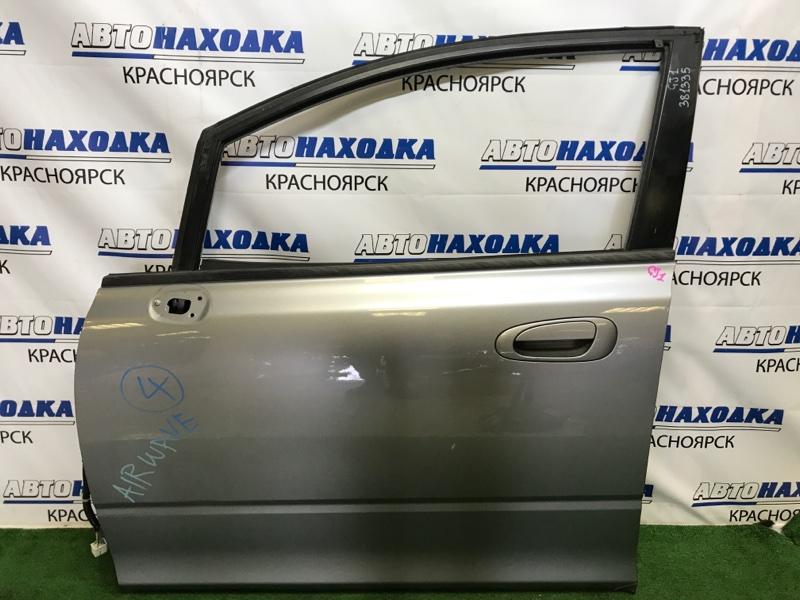 Дверь Honda Airwave GJ1 L15A 2005 передняя левая передняя левая, серая, подмят нижний уголок,
