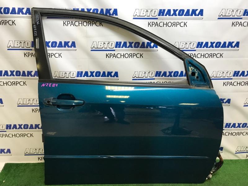 Дверь Toyota Corolla Fielder NZE121G 1NZ-FE 2000 передняя правая передняя правая, синяя (769), без личинки,