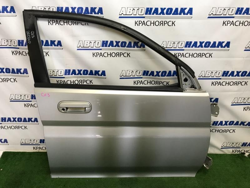 Дверь Honda Hr-V GH3 D16A 2001 передняя правая передняя правая, пятидверка, серебристая (NH623M), без
