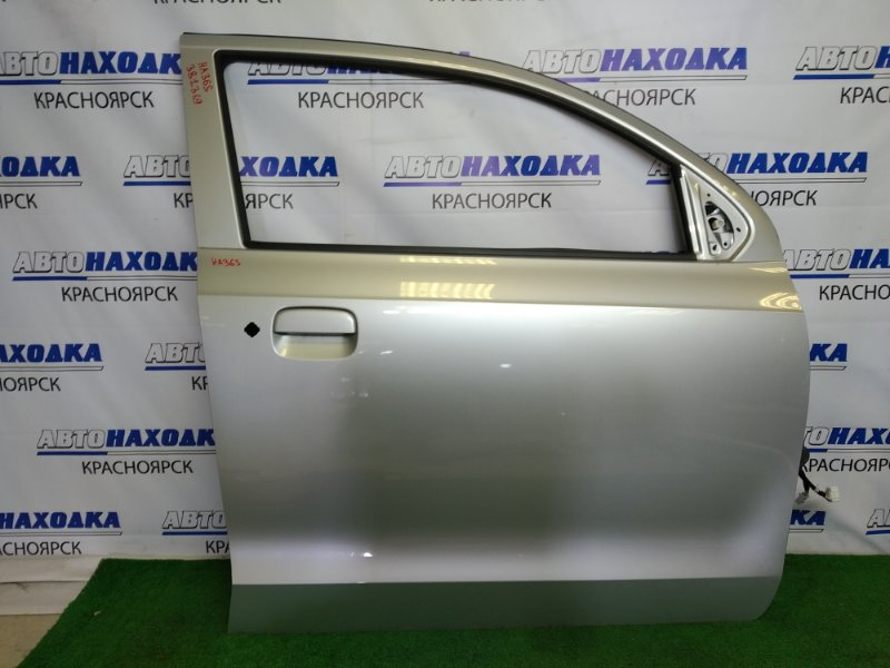 Дверь Suzuki Alto HA36S R06A 2014 передняя правая передняя правая, серебристая (Z2S), без стекла, без