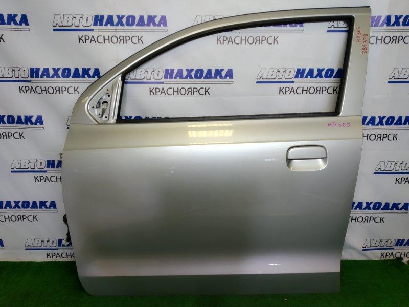 Дверь Suzuki Alto HA36S R06A 2014 передняя левая передняя левая, серебристая (Z2S), без стекла,