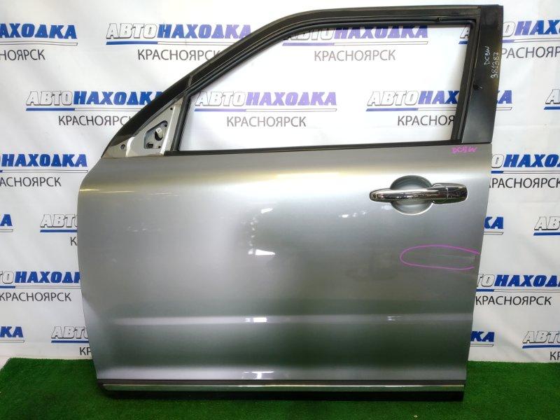 Дверь Mazda Verisa DC5W ZY-VE 2006 передняя левая передняя левая, серая (38P), вмятина