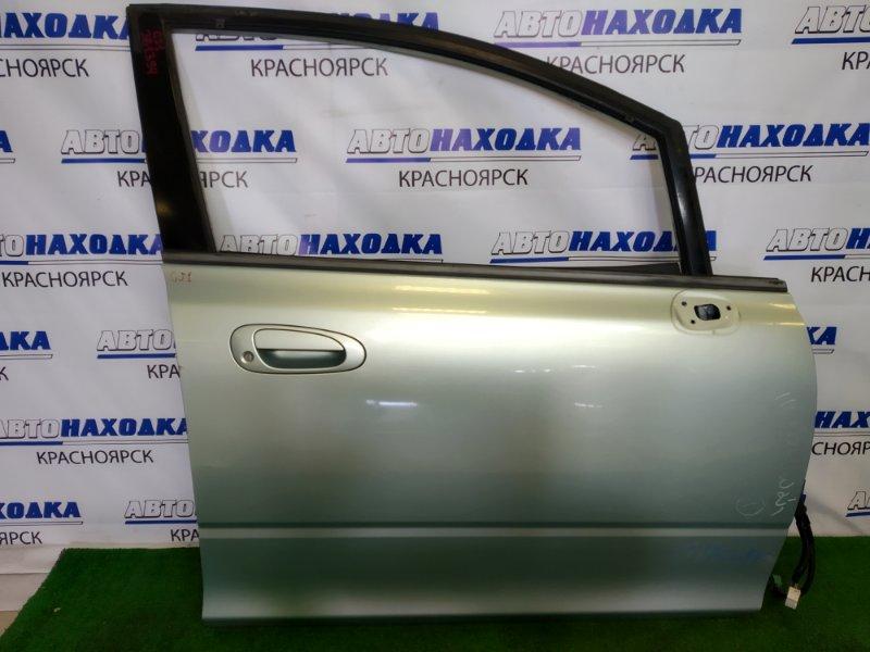 Дверь Honda Airwave GJ1 L15A 2005 передняя правая передняя правая, светло-зеленая, без ст.