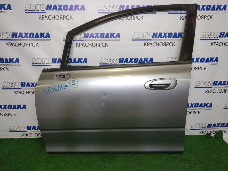Дверь Honda Airwave GJ1 L15A 2005 передняя левая передняя левая, серая, вмятинки, подмят угол,