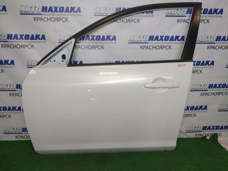 Дверь Mazda Axela BKEP LF-VE 2003 передняя левая передняя левая, белый перламутр, хэтчбек,