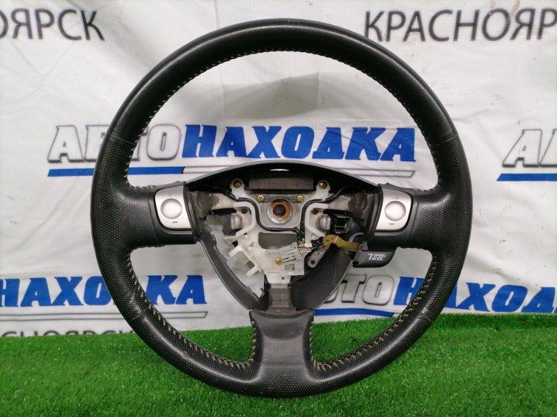 Руль Honda Fit GD3 L15A 2001 Кожаный, с переключением скоростей, есть потертости