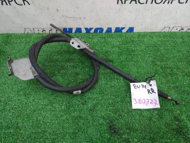 Трос ручника Nissan Bluebird EU14 SR18DE 1996 задний правый задний правый, под барабанные тормоза,