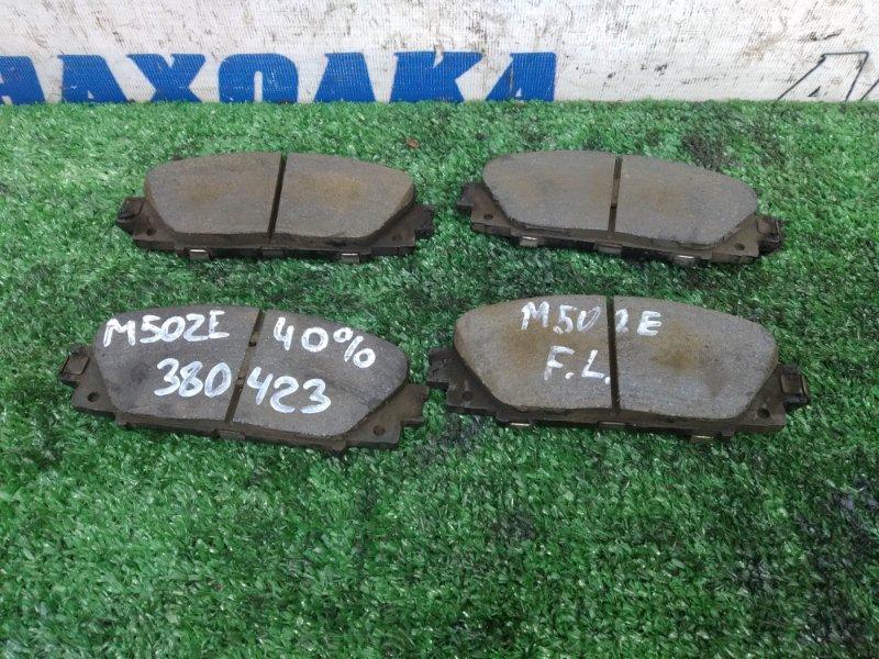 Колодки тормозные Toyota Passo Sette M502E 3SZ-VE 2008 передние передние, комплект, остаток 40%