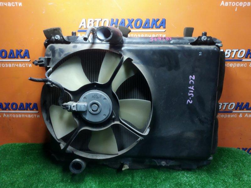 Радиатор двигателя Suzuki Swift ZC71S K12B 07.2008 БЕЗ ТРУБОК ОХЛАЖДЕНИЯ. С ДИФФУЗОРОМ