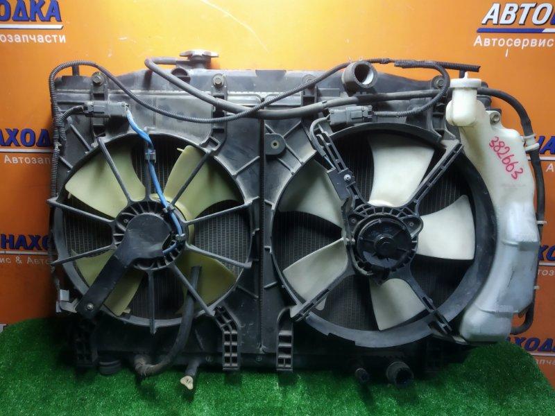 Радиатор двигателя Honda Edix BE1 D17A 2005 С ТРУБКАМИ ОХЛАЖДЕНИЯ. С ДИФФУЗОРОМ