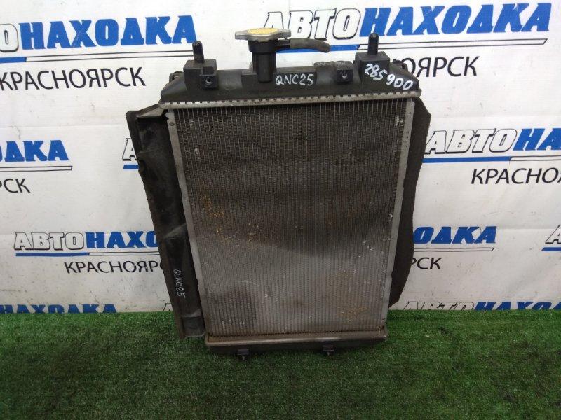 Радиатор двигателя Toyota Bb QNC25 K3-VE 2005 АКПП, в сборе с диффузором и вентилятором