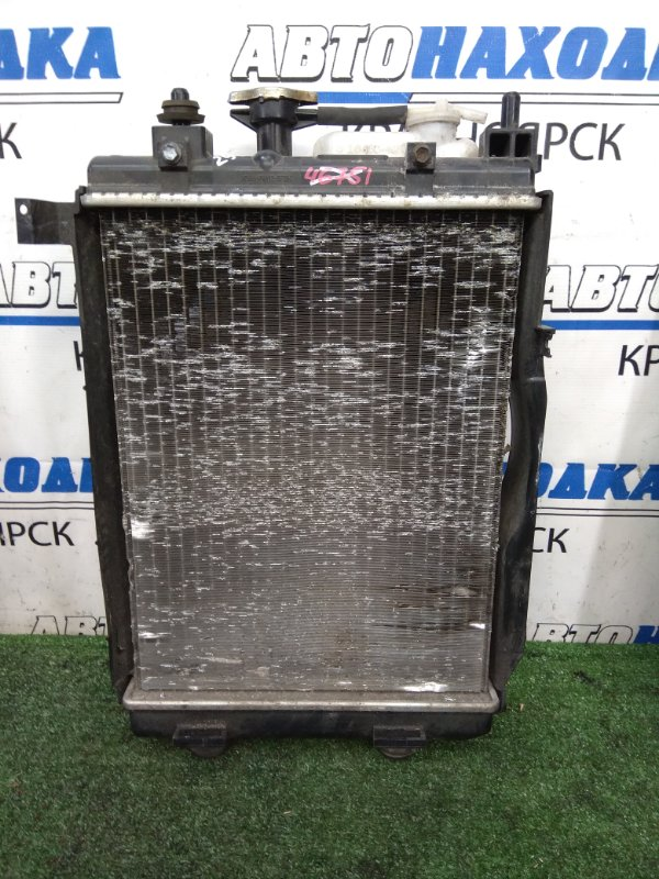 Радиатор двигателя Daihatsu Mira Cocoa L675S KF-VE 2009 В сборе с диффузором, вентилятором,