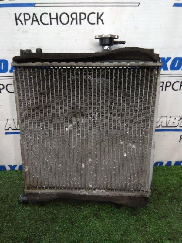 Радиатор двигателя Mazda Az-Wagon MJ22S K6A 2005 В сборе с диффузором и вентилятором, без