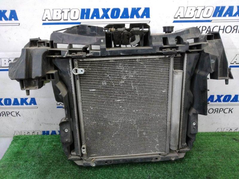 Рамка радиатора Mitsubishi I HA1W 3B20 2006 пластиковая, с радиаторами ДВС и кондиционера,