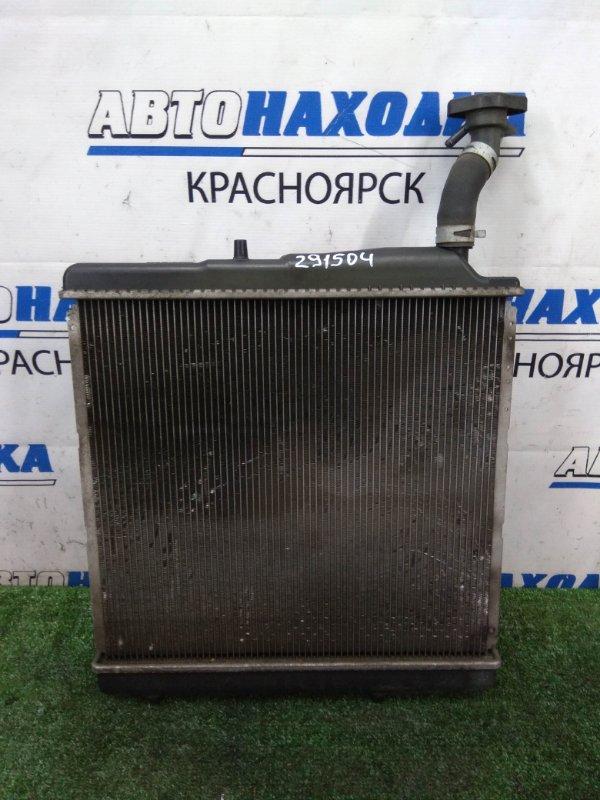 Радиатор двигателя Honda Zest JE1 P07A 2006 A/T, в сборе с диффузором и вентилятором