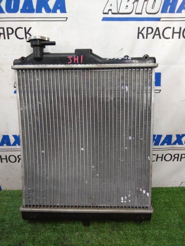 Радиатор двигателя Honda N-Wgn JH1 S07A 2013 CVT, без диффузора и вентилятора, подмята одна