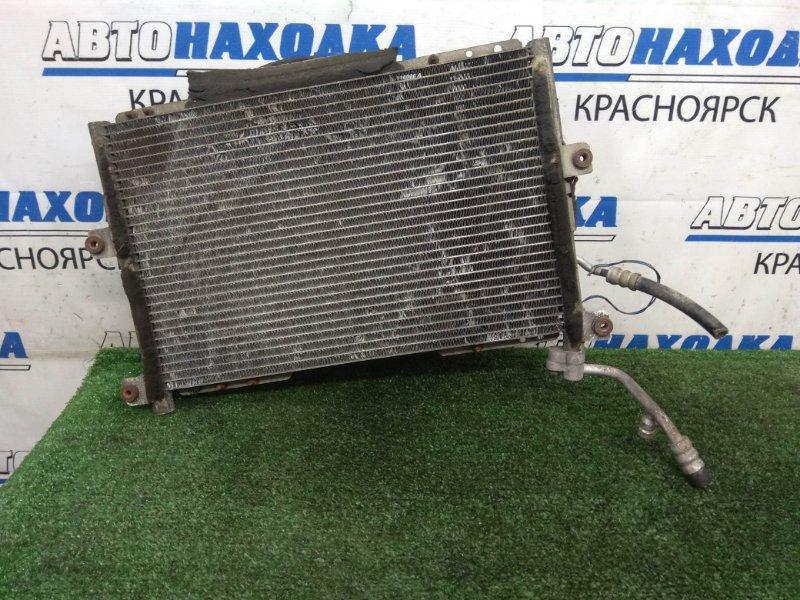 Радиатор кондиционера Suzuki Jimny Wide JB33W G13B 1998 с диффузором и вентилятором