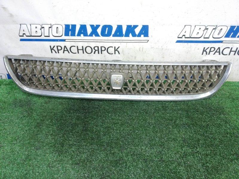 Решетка радиатора Toyota Chaser GX90 1G-FE 1992 передняя Дорестайлинг (1 модель), дефект хрома -