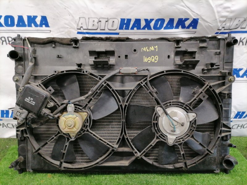 Радиатор двигателя Mazda Mpv LW3W L3 В сборе, с диффузором, вентиляторами, трубками