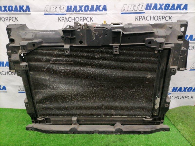 Рамка радиатора Mazda Mpv LY3P L3-VE Пластиковая в сборе, с замком капота, радиатором двс( с