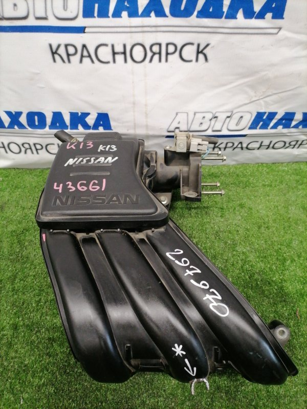 Коллектор впускной Nissan March K13 HR12DE 2012 Пластиковый, есть незначительный дефект (фото)
