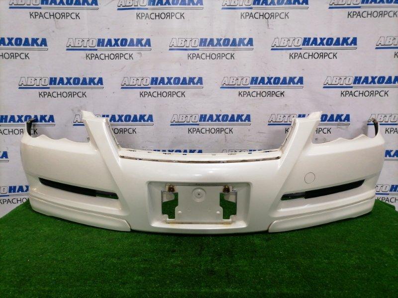 Бампер Toyota Mark X GRX120 3GR-FSE 2004 передний передний, цвет 062. Есть пара надрывов снизу,