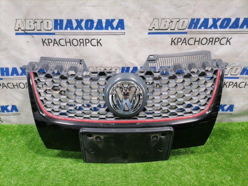 Решетка радиатора Volkswagen Golf 1K1 BLF 2003 передняя 1K0853651E GTI, GOLF 5. Есть потертости, дефект ЛКП.
